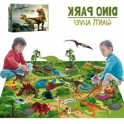 Dinosaur Toys w/ Activity Play Mat Dinosaur Figures Playset