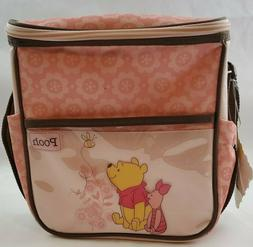 Disney Mini Diaper Bag Winnie The Pooh Pink Brown Baby Bottl