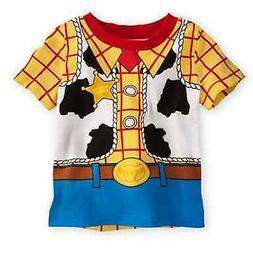 Disney Store Sheriff Woody Baby Costume T Shirt Size 0-3 Mon