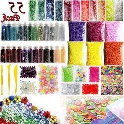 DIY Slime Making Supplies Tool Kit Beads Charms Kids Art Cra