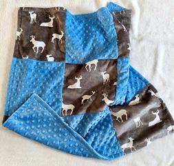Doe, Buck, Deer Minky Baby Blanket, Car Seat, Security Blank