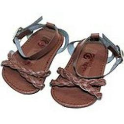 "Doll Clothes 18"" Shoes Sandal Braided Brown Arianna Fits Ame"