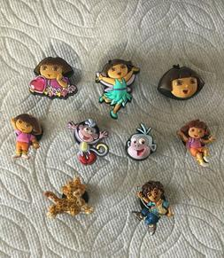 DORA THE EXPLORER JIBBITZ DORA SHOE CHARMS MAP JIBBITZ BOOTS