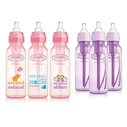 Dr. Brown's Baby Bottles Girls 6 Pack - 3 8 oz Lavender and