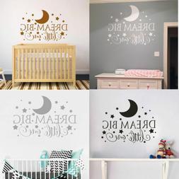 Dream Big Little One Quote Baby Boy Girl Kids Nursery Bedroo