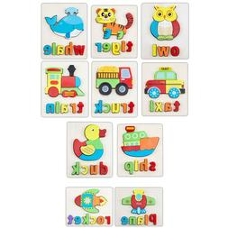 Early Educational Wood Letter Learning Puzzle Toys