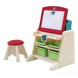 Easel for Kids Portable Desk Stool Storage Whiteboard Flip D