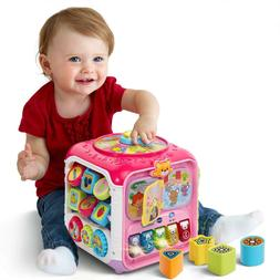 Educational Kids Activity Cube Toddler Baby  Learning Toy Mu