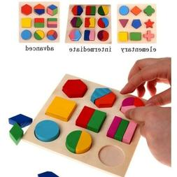 Educational Puzzle Sets For Baby Kids Early Learning Wooden