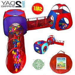Educational Toy-2 Crawl Tunnel & 2 Tents For Boy Girl Year O