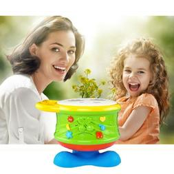 Electronic Musical Kids Drum Play Baby Child Toddler Music E