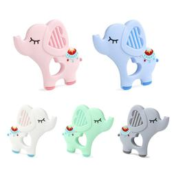 Elephent Baby Teether Silicone Soother Pacifier Chewable Tee