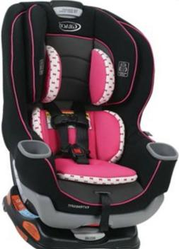 Extend2Fit Convertible Car Seat PINK/GRAY holds up to 65 lbs