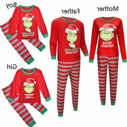 Family Matching Christmas Pajamas Set Women Baby Kids Santa