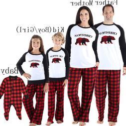 Family Matching Christmas Pajamas Set Women Baby Kids Xmas S