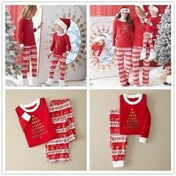 Family Matching Christmas Pajamas Set Womens Baby Kids Tree
