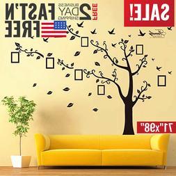Family Tree Wall Decal Stickers Large Vinyl Frame Art DIY Mu