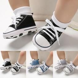 Fashion Baby Boy Girl Anti-slip Soft Sole Crib Shoes Newborn