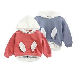 Fashion Baby Boys Girls Sweatshirts Autumn Cotton Hooded Lon