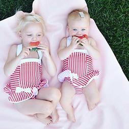 Fashion Kid Baby Girl Sleeveless BIkini Swimwear Swimsuit Ba