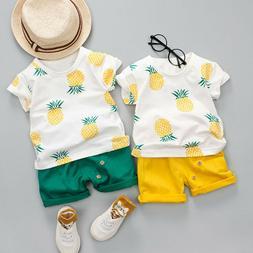 Fashion Toddler Baby Kids Boys Pineapple Shirt Tops Blouse S