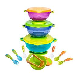 Lullababy Ultimate Baby Feeding Set: 3 Products in 1! Suctio
