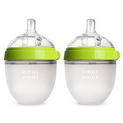 Comotomo Natural Feel 5 oz Baby Bottle- Double Pack