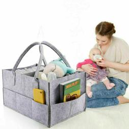 Felt Baby Diaper Caddy Organizer Foldable Storage Bag Box fo