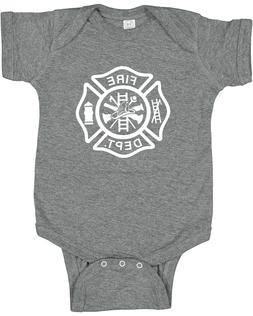 Fire Dept. Cute baby clothes infant t-shirt one piece gift r