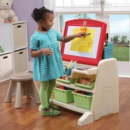 Step2 Flip & Doodle Easel Desk with Stool and Plenty of Stor