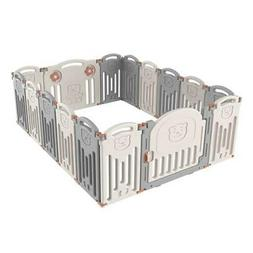 Foldable 16 Panel Safety Play Center Baby Playpen Kids Yard