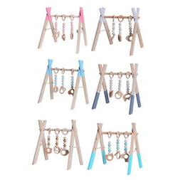 Foldable Baby Play Gym Frame Activity Center Hanging Bar New