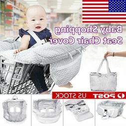 Foldable Baby Shopping Trolley Cart Seat Cushion High Chair
