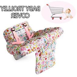 Foldable Cute Baby Shopping Trolley Cover Cart Seat Pad Kid