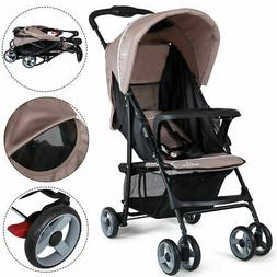 Foldable Lightweight Baby Stroller Kids Travel Pushchair 5-P