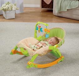 Folding Rocking Chair Baby Infant Kids Newborn Rocker Wood N