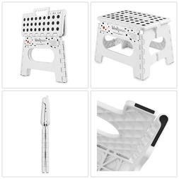FOLDING STEP STOOL 9 in. Collapsible Kitchen Bath Home Kid C