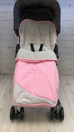 SILVER CROSS FOOTMUFF PINK PRINCESS WILL FIT MOST STROLLERS.