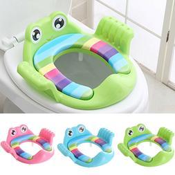 TH_ Frog Shape Baby Soft Padded Round Potty Training Toilet