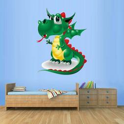 Full Color Wall Decal Cartoon Dinosaur Dino Dragon Fire Nurs