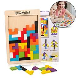 Fun & Educational Wooden Tetris Puzzle Toy For Toddlers & Pr