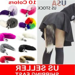 Funny Beginner Red Fox Faux Tail Plug Butt Stopper Anal Slic