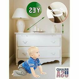 Furniture Cabinet Locks & Straps Baby Proofing Anti Tip Anch