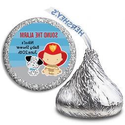 Future Fire Fighter Boy - Personalized Hershey Kiss Baby Sho