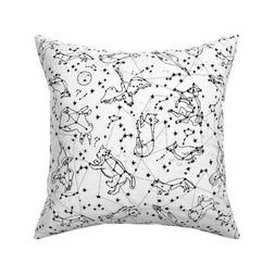 Galaxy Stars Nursery Baby Throw Pillow Cover w Optional Inse
