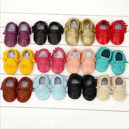 Genuine Leather Newborn Baby Infant Toddler Kids First Walke
