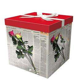 """Gift Box 10""""X10""""X10"""" - Les Roses Collection - Easy to Assemb"""