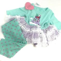 Youngland Baby Girl 3-6 Months Dress  Leggings Christmas New
