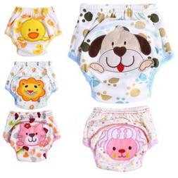 Girls Boys Toddler Potty Training Pants Cloth Diaper Underwe