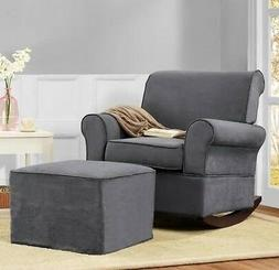 Gray Rocker Chairs &/or Ottoman Rocking Chair Nursery Furnit